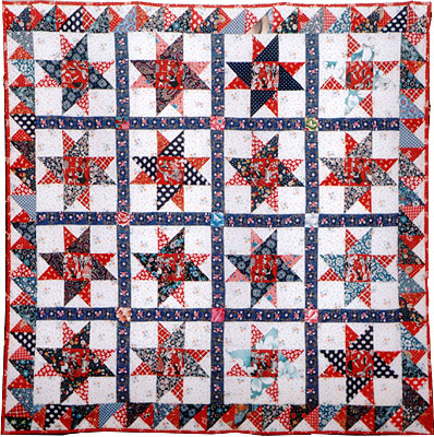 Double Friendship Star quilt