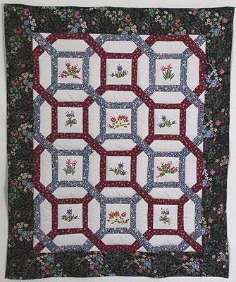 Les petites fleurs - шитье по основе. Кликните на фото, чтобы увидеть увеличенный  фрагмент