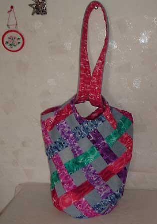 Рюкзак - техника синели.  Японская сумка 3 - традиционная сборка.