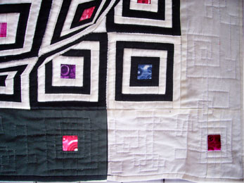 Log Cabin with a Lens - quilting